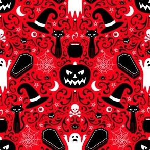 Halloween Damask (Red)