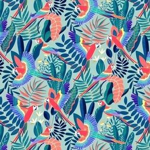 Jungle Parrot Paradise - Pastel Rainforest - Small Scale