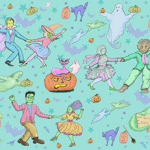 Ghoul's Night Out Halloween Pastels