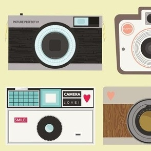 Retro Cameras - Yellow