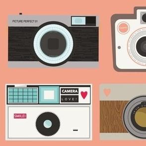 Retro Cameras - Pink