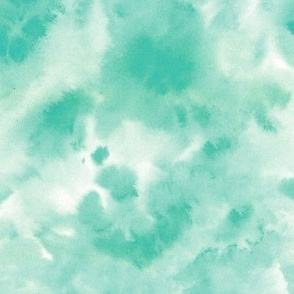 emerald watercolor texture - abstract modern wash tie diy - watercolour loose paint a424-4