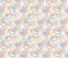 Pastel Halloween Jack O Lanterns - small7x7