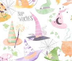 'sup Witches -Pastel  Halloween -jumbo repeat