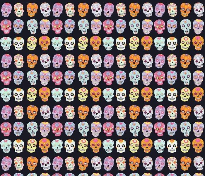 Pastel Skulls Black