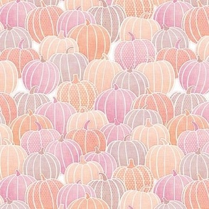 Pastel Pumpkin Patch Mini- Pastel Halloween- Fall- Autumn Pumpkins- Orange- Pink- Coral- Baby- Kids- Small Scale- Face Mask