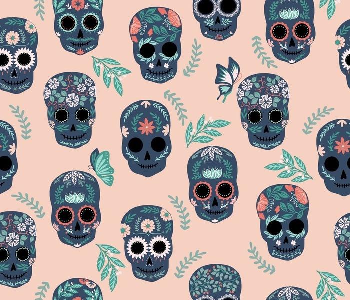 Sugar Skulls in Pink