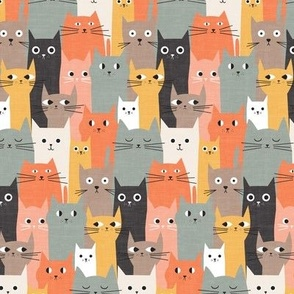 Silly Cats Orange Bown - xs