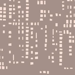 Square  Pixel Brown & Taupe