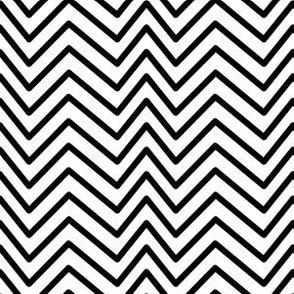 Black and White Zigzag Stripes