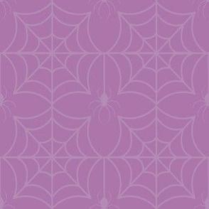 Purple Halloween Spooky Spider Web