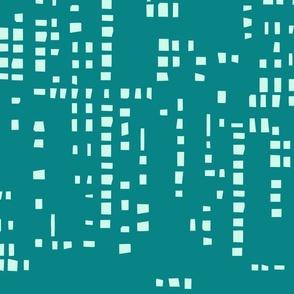 Square  Pixel Teal & Aqua