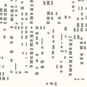 Square  Pixel  Grey and Cream