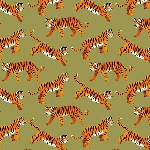 Bengal Tigers - Olive Green - Small Scale