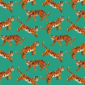 Bengal Tigers - Sea Green - Small Scale