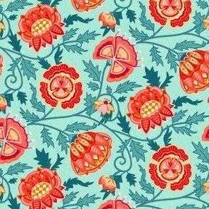 Modern Indian Chintz - Candy Colors