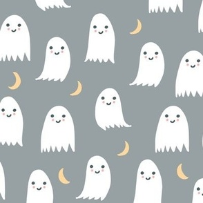 Cute Ghosts in White and Gray