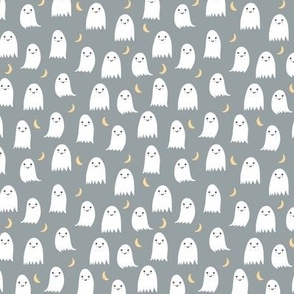 Small Cute Ghosts in White and Gray