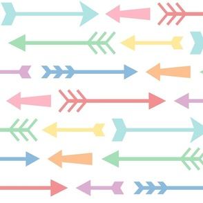 XXL pastel rainbow fun arrows