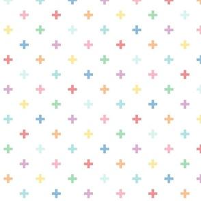 XXL pastel rainbow fun crosses