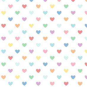 XXL pastel rainbow fun hearts