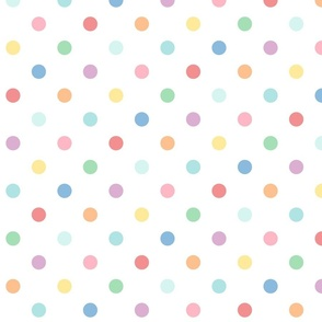 XXL pastel rainbow fun polkas