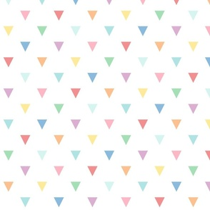 XXL pastel rainbow fun triangles