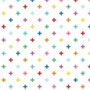 XXL rainbow fun crosses