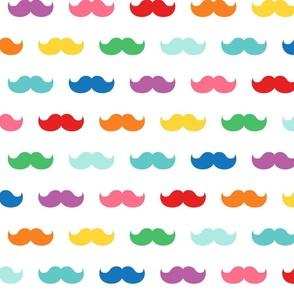XXL rainbow fun moustaches