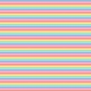 ultra tiny pastel rainbow fun stripes no2 horizontal