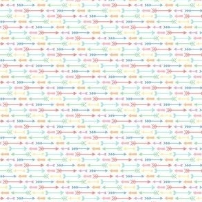 ultra tiny pastel rainbow fun arrows
