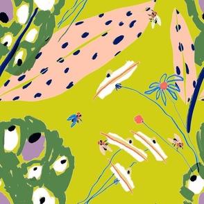 Buzzing Meadow Lime - LillianFarag for NeridaHansen