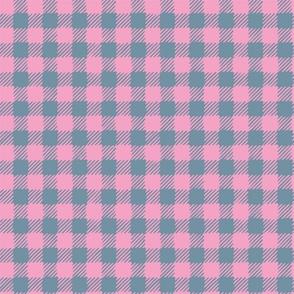 Scratchy Gingham Pink Blue - Nerida Hansen