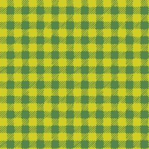 Scratchy Gingham Lime Green - Nerida Hansen