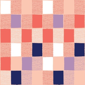 Spotted Gingham Coral - Nerida Hansen