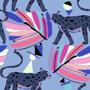 Jungle Jiggle Blue - LillianFarag for NeridaHansen