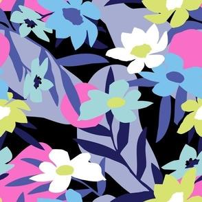 Signature Petal Paper Palm Blue - Nerida Hansen