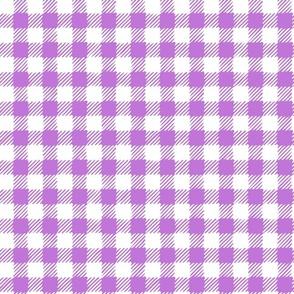 Scratchy Gingham Purple - Nerida Hansen