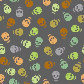 Happy skull - scattered small