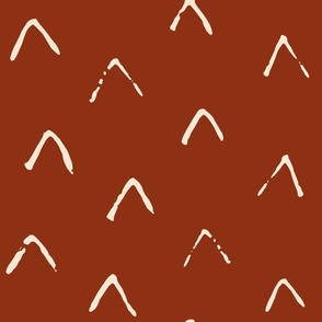 Jumbo // Arrow in Red Brown