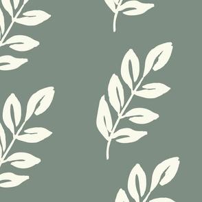 Jumbo Luminous Leaves - Soft Forest Green
