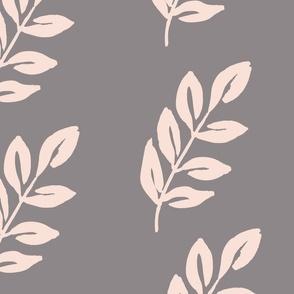 Jumbo Luminous Leaves - Soft Pink and Grey