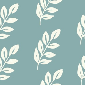 Jumbo Luminous Leaves - Mint Blue