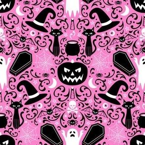 Halloween Damask (Pink)