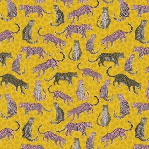 Cheetah Summer Yellow Pink - Nerida Hansen