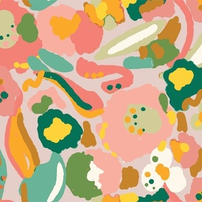 Abstract Floral Summer - Nerida Hansen
