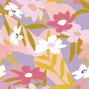 Signature Petal Summer Lavender Mustard - Nerida Hansen