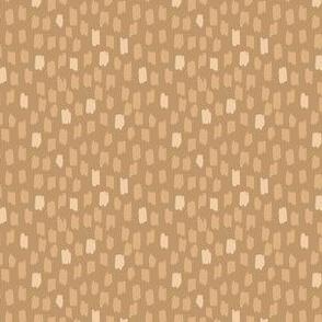Pretty Poppies - tan - Confetti dots