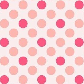 Peachy Pink Polka Dots