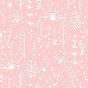 Pink Leaf And Herb